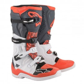 Alpinestars Cizme Tech 5 White Gray/Red Fluo 2020