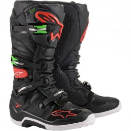 Alpinestars Cizme Tech 7 Black/Red/Green 2020