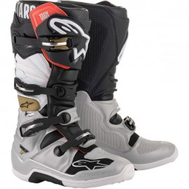 Alpinestars Cizme Tech 7 Black/Silver White/Gold 2020