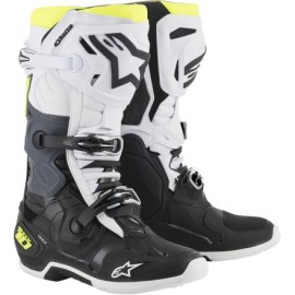 Alpinestars Cizme Tech 10 Black/White/Fluo