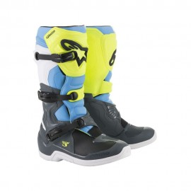 Alpinestars Cizme Tech 3 Cool Gray/Yellow/Cyan