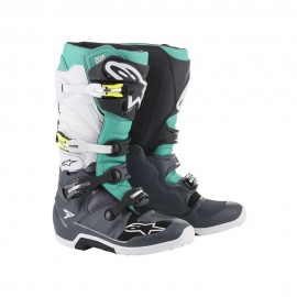 Alpinestars Cizme Tech 7 Gray/Teal/White