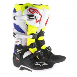 Alpinestars Cizme Tech 7 White/Yellow/Blue