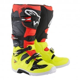 Alpinestars Cizme Tech 7 Yellow/Red/Gray/Black