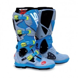 SIDI CIZME CROSSFIRE 3 SRS Limited Edition Blue/Grey/Yellow Fluo