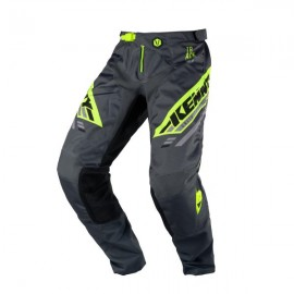 KENNY Pants Track Charcoal Neon Yellow