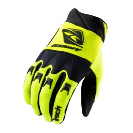 KENNY Gloves Track Black Neon Yellow