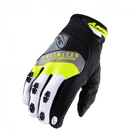 KENNY Gloves Safety Black Grey Neon Yellow